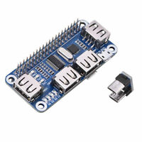4 Ports USB HUB HAT for Raspberry Pi 3B 2B B+ Zero, Zero W USB to UART Debugging