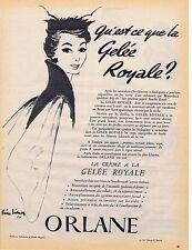 PUBLICITE ADVERTISING 045 1954 ORLANE la crème à la gelée royale par P.Simon
