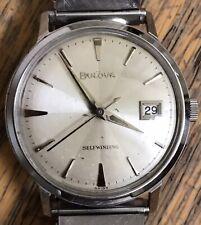 Vintage Bulova M2 Selfwinding Stainless Stell Mens Wristwatch Running