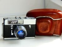 RARE Zorki-7, DROOG, FRIEND USSR Film Camera copy Leica w/s lens JUPITER-8 AS IS