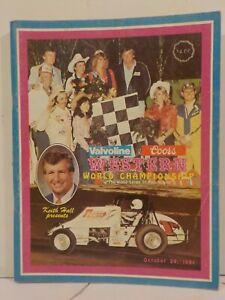 Western World Championship Manzanita Speedway Official Program 10/24/1981
