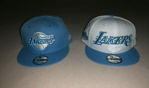 NEW ERA 9FIFTY Lakers HWC Light Blue Basic OLD LOGO PLATINUM Silver Snapback Hat