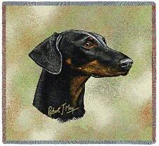 Lap Square Blanket - Doberman Pinscher Ii by Robert May 6368 In Stock