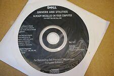Dell Precision Workstation driver utility diagnostic CD Disk UC677 0CD011 CD011