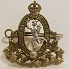 WWII CANADIAN ARMY ROYAL CANADIAN CORPS OF SIGNALS CAP BADGE KC CAPBADGE CURVED