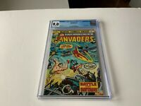 INVADERS 1 CGC 9.0 WHITE PAGES CAPTAIN AMERICA SUB MARINER MARVEL COMICS 1975 ZZ