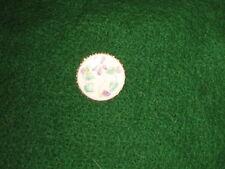 Leaf Floral Design Purple Green Vintage Enamel Pin Cameo Brooch Flowers
