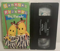 Bananas in Pajamas Big Parade VHS Tape Childrens Kids TV Show Vintage 90s Hh