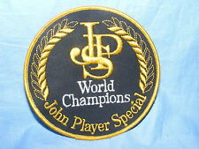 Vintage Old JPS Sew On Patch John Player Special Racing Team Tobacco Advertising