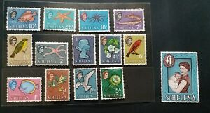 ST. HELENA 1961 QE II 1d to £1 SG 176 - 189 Sc 159 - 172 pictorial set 14 MNH
