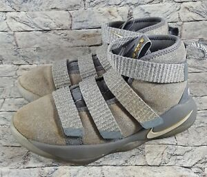 Nike Lebron Soldier Cool Gray Pure Platinum 918368-010 Basketball Shoes US 13 C