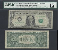 $1 1969-A FRN=MISMATCH SERIAL=42/32=RARE ONLY 10 KKNOWN=ERROR=PMG CHOICE FINE 15
