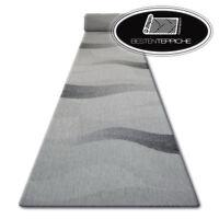 Moderne Läufer SISAL FLOORLUX Wellen Schwarz Silber Breite 70 - 120 cm Modisch