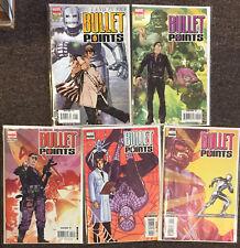 Bullet Points # 1 2 3 4 5 Marvel Comics Set Nm Iron Man