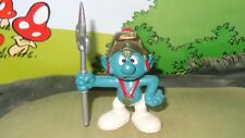 Smurfs Knight Smurf Castle Guard Battle Axe 20109 Rare Vintage Display Figure