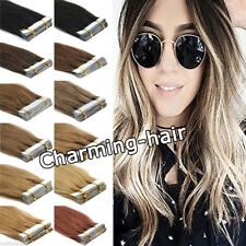 Multi-Color Seamless Invisible Tape in Hair Extensions Remi Real Remy Human Hair
