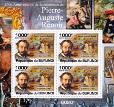Pierre-Auguste RENOIR Artist & Painter / Art Stamp Sheet #2 of 5 (2011 Burundi)