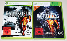 2 GIOCHI XBOX 360 raccolta Battlefield Bad Company 2 & BF 3 Limited EGO Shooter