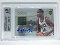 GIANNIS ANTETOKOUNMPO 2013/14 SELECT ROOKIE JERSEY AUTOGRAPHS AUTO RC BGS 8.5/10