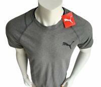 Puma TShirt Size Men's Small Gray With Black Puma Graphic Tee Short Sleeve $30