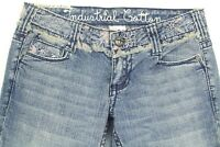 Industrial Cotton Women's Jeans Boot Cut Embroidered Denim Size 3