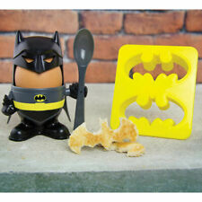 Batman Egg Cup and Toast Cutter Set - Kids Hard Boiled Breakfast Egg Cups