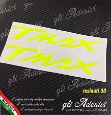 Coppia Adesivi Resinati Sticker 3D TMAX T MAX Fluo Fluorescente