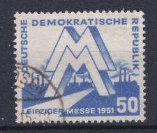 1951 Leipziger Frühjahrsmesse ANK 283 blau sauber Gestempelt