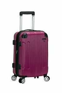Rockland London Hardside Spinner Wheel Luggage Magenta Carry-On 20-Inch