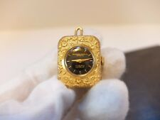 VINTAGE REUGE SUB MINIATURE MUSICAL CHARM PENDANT MUSIC BOX CLOCK (Watch video)