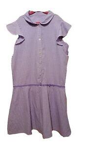George. Girls Lilac Gingham School Dress. (Age 12-13 Yrs).