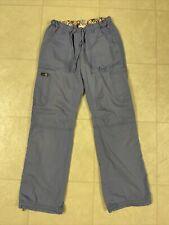 Koi Lindsey Cargo Scrub Pants Ceil Blue Sz Xs