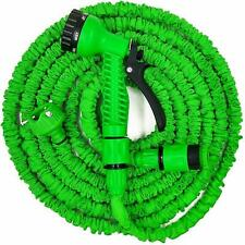 Expandable Garden Hose Pipes Expanding Hose Pipe + Water Spray Gun 50ft - 200ft