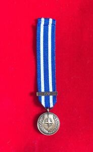 """MINIATURE NATO AFGHANISTAN ISAF MEDAL WITH 6"""" RIBBON - BRAND NEW FAST DISPATCH"""