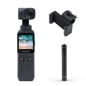 Feiyu Pocket Handheld Gimbal shoots 4K at 60p 6-axis Stabilisation+ Holder