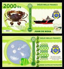 ILE JUAN DE NOVA ● TAAF / COLONIE ● BILLET POLYMER 2000 FRANCS ★ N.SERIE 000010