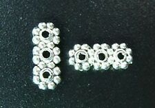 60pcs Tibetan Silver 3 Holes Bar Spacers Beads T72