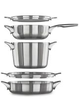 Calphalon Premier Space Saving Stainless Steel Supper Club Set NEW