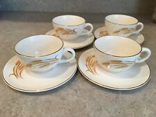 By Homer Laughlin With 22K Gold Trim Golden Wheat Coffee Cup /& Saucer U.S.A
