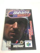 Wayne Gretzky's 3D Hockey N64 Manual ONLY Nintendo 64 Retro Vintage
