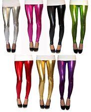 EXTRA LONG Leggings Ultrashine Spandex Metallic SIZE 6 8 10 12 14 16 18 S M L