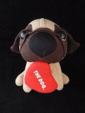 THE DOG ARTLIST COLLECTION PUG WITH HEART PLUSH DOLL TOY STUFFED ANIMAL 7""