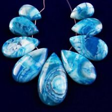 9Pcs/Set N04181 Blue Crazy Lace Agate Teardrop Pendant Bead