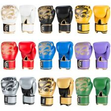 Blitz Warrior Muay Thai Leather Boxing Gloves Kickboxing MMA Sparring Training