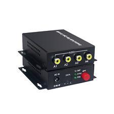 Premium 4 Audio Fiber optic Media Converters for Broadcast system(Tx/Rx) Kit
