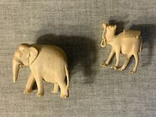 Antique Carved Camel And Elephant Detailed