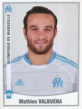255 MATHIEU VALBUENA OLYMPIQUE MARSEILLE OM STICKER FOOT 2011 PANINI
