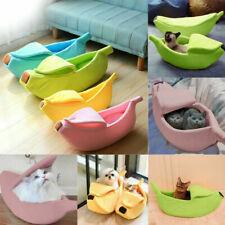 Funny Pet Dog Banana Shape Bed Pad Warm Kennel Cat Sleep Bed Soft Plush Mat Nest