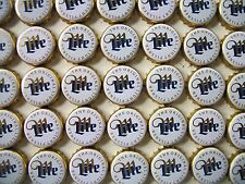100 MILLER LITE BEER BOTTLE CAPS (WHITE ) NO DENTS (CRAFT'S)