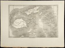 1860 - Îles Fidji - Carte géographique ancienne. Gravure